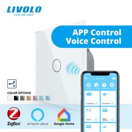 Livolo ZigBee smart home wifi switch wireless Intelligent Automation 2Ways APP Control,works with google home,aleax,echo|Switches|