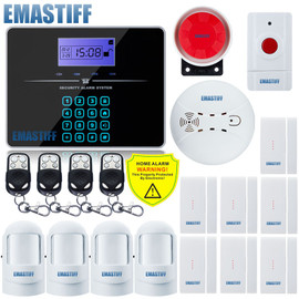 Touch Keypad G3B English LCD Wireless 433MHZ SMS GSM Home automation kit Burglar Security Detector Sensor Alarm System|system alarm|system securitysystem alarm gsm
