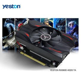 Yeston Radeon RX 560D GPU 4GB GDDR5 128 bit Gaming Desktop computer PC Video Graphics Cards support DVI D/HDMI compatible Graphics Cards 