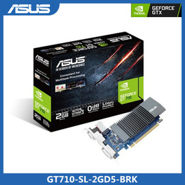 Asus GT710 SL 2GD5 BRK Graphics Card GeForce® GT 710 DDR5 2GB PCI Express 2.0 HDMI Compatible DVI Video Card Graphics Cards 