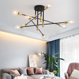 Modern Nordic E27 Black LED Chandelier Edison Bulbs Indoor Light Fixtures For Bedroom Living Room Lamp|Chandeliers|