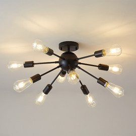 FSS Nordic Gold Sputnik Chandeliers Modern LED 10 Lights For Living Room Bedroom Simple Household Indoor Lamps|Chandeliers|