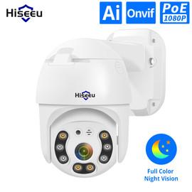 Hiseeu H.265 1080P POE PTZ IP Camera 4X Digital ZOOM 2MP CCTV IP Camera ONVIF for POE NVR System Waterproof Outdoor 48V|Surveillance Cameras|