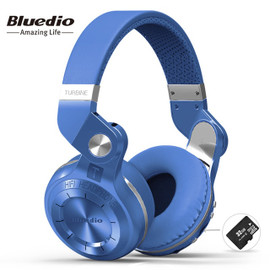 Bluedio T2+ fashionable foldable over the ear bluetooth headphones BT 5.0 support FM radio& SD card functions Music&phone calls|Bluetooth Earphones & Headphones|
