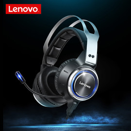 Lenovo HS25 Gaming Headset Noise Reduction 50MM Soft Leather Ear Cups Headphones LED 7.1 Vibration mode with 360 sensitivity Mic|Headphone/Headset|