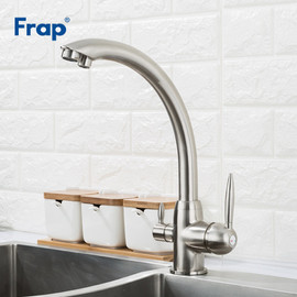 Frap Nickle Kitchen Faucet Brass Deck Mounted Mixer Tap 180 Degree Rotation Water Purification Features Crane torneira F4399 5 Kitchen Faucets 