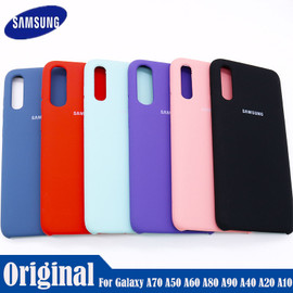Samsung Galaxy A10 A20s A30 A40 A50 A60 A70 A80 A90 Back Case Liquid Silicone Case Silky Soft Touch Finish Back Protective Cover|Phone Case & Covers|