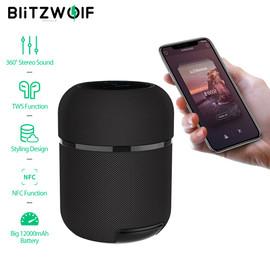 BlitzWolf BW AS3 bluetooth Speaker 70W 12000mAh Wireless with 360°Stereo Sound TWS Function Styling Design NFC Smart Soundbar|Portable Speakers|
