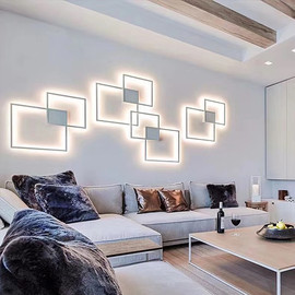 Hartisan 2020 New Design Led Wall Lamp Living Room Bedroom Foyer Wall Light Decoration Lamp Round/Square Mounted Led Lighting|LED Indoor Wall Lamps|