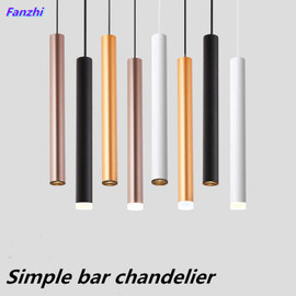 LED long tube cylindrical spotlight, hotel bar chandelier at the front desk, creative simple and personalized restaurant with as|Ceiling Lights|