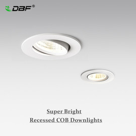[DBF]Dimmable COB Recessed Downlight 5W 7W 10W 12W White/Black Body Ceiling Spot Light with 90 265V LED Driver 3000K 4000K 6000K|Ceiling Lights|