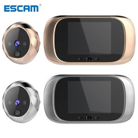 ESCAM HD Door Viewer Long Standby Video Intercom Infrared Motion Sensor Night Vision Camera Door Bell Home Security Camera|Video Intercom|