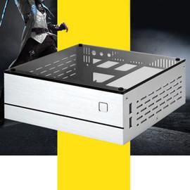 B01 Mini ITX Computer Case Chassis Aluminum/Glass Briefcase Home Theater AC DC HTPC Computer Box Desktop PC Enclosure|Computer Cases & Towers|