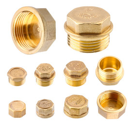 "G1""1/4""1/8""3/8""1/2""3/4""G2"" BSP Female Threaded Brass Pipe Hex Head Brass Stopper End Cap Plug Plumbing Fitting Connector Adapter