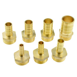 Brass Hose Fitting 3/4 Inch BSP Male Thread 10mm 12mm 16mm 19mm 25mm Hose Barb Tail Pipe Connector Joint Copper Coupler Adapter|male hose fittings|brass hose barb fittingsbrass coupler fittings