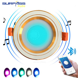 Smart Music Lamp Intelligent Background Music Light In Ceiling Speakers With Adjused Lights Smart Bluetooth Downlight Speaker|In-ceiling Speakers|