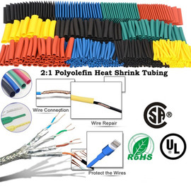 164pcs Thermoresistant tube Heat Shrink wrapping kit, termoretractil Shrinking Tubing Assorted Wire Cable Insulation Sleeving Insulation Materials & Elements 