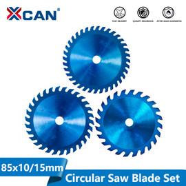 XCAN 1pc 85x10/15mm 24/30/36 Teeth TCT Wood Circular Saw Blade Nano Blue Coating Cutting Disc Carbide Tipped Saw Blade|Saw Blades|
