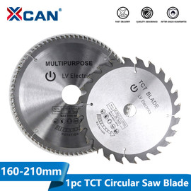 XCAN 1pc Diameter 160 210mm Mulitpurpose TCT Circular Saw Blade Woodworking Cutting Disc Carbide Tipped Wood Saw Blade|Saw Blades|
