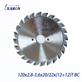 Woodworking Circular Scoring Saw Blade Cutting Dics for Panel Saw Sliding Table Saw Wood and MDF Cutting 120mm (12+12)T|score|cutting sawsaw cutting