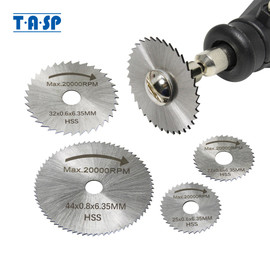 TASP 6pcs Mini Circular Saw Blade Set HSS Cutting Disc Rotary Tool Accessories for Dremel Compatible Wood Plastic Aluminum|blade set|saw blade setrotary cutting disc