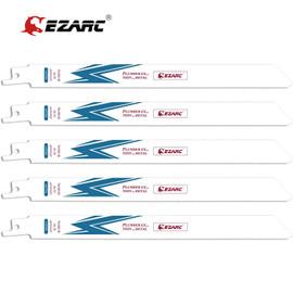 "EZARC 5Pcs Reciprocating Saw Blade Bi Metal Cobalt Sabre Saw Blades for Thin Medium Metal Cutting 6"" & 9"" R622PT / R922PT 18TPI|Saw Blades|"