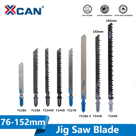 XCAN T Shank Saw Blade 5pcs T111C T118A T127D T144D T244D T318A T344D High Carbon Steel Jig Saw Blade for Wood/Metal Cutting|Saw Blades|