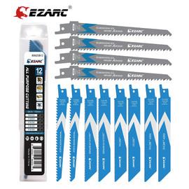 EZARC 12pcs Reciprocating Saw Blades 6 Inch, Bi Metal Demolition Sabre Saw Blade Set for Metal and Wood Cutting (12 Pack)|Saw Blades|