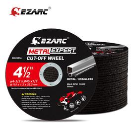 EZARC Cut Off Wheels 25 pcs, 75mm x 9.5mm Or 115mm x 22.2mm Cutting Wheel, Metal & Satinless Steel Cutting Disc for Die Grinder|Grinding Wheels|