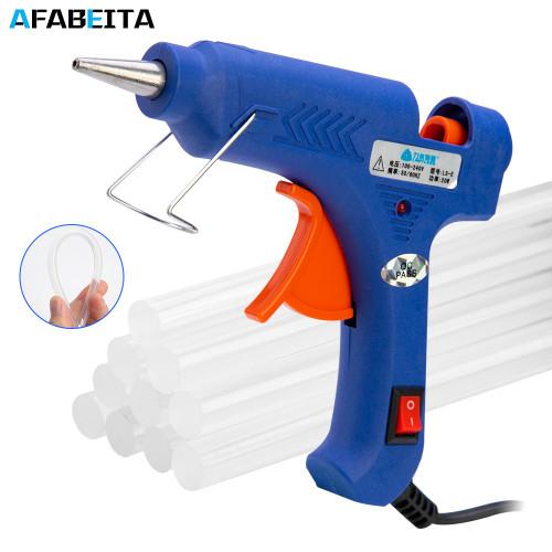 20W/100W Hot Melt Glue Gun With 7mm Glue Sticks Industrial Mini Guns Thermo Electric Heat Temperature Repair Tool DIY|Glue Guns