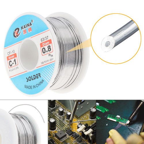63/37 C 1 100g High Purity Rosin Core Solder Tin Lead Wire Reel for Electric Soldering Iron 0.6mm 0.8mm 1.0mm 1.2mm 1.5m 2.0mm|Welding Wires