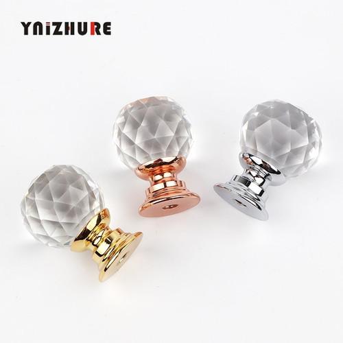 YNIZHURE Brand Design 20mm Crystal Ball Glass Knobs Cupboard Drawer Pull Kitchen Cabinet Door Wardrobe Handles Hardware|Cabinet Pulls