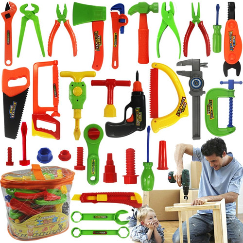 Baby Repair Tools Toy 34pcs/set Children Tools Plastic Fancy Party Costume Chainsaw Toy Kids Pretend Play Classic Toys Gift|children tool|tool toychainsaw toy