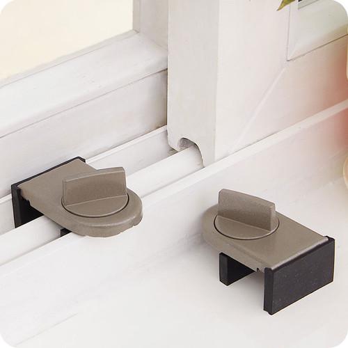 vanzlife Locks on Windows adjustable security door latch Mobile window insurance lock anti theft protection lock window stoppers|Window Latches