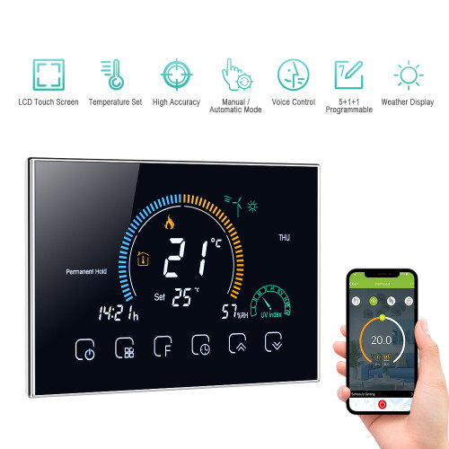 95 240V Wi Fi Smart Programmable Thermostat 5+1+1 Six Periods Voice APP Control Water/Gas Boiler Heating Thermoregulator|Smart Temperature Control System