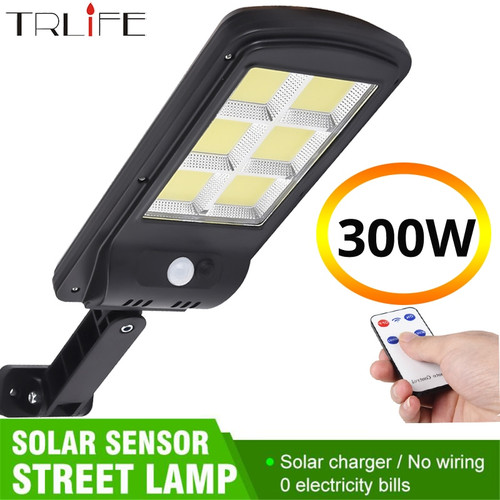 TRLIFE Powerful Remote Control Upgraded COB Solar Light PIR Motion Sensor IP65 Outdoor Solar Wall Street Light Waterproof Lamp Solar Lamps
