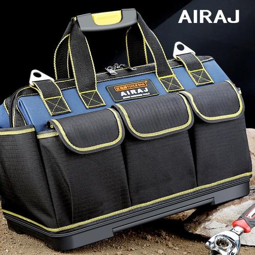 AIRAJ Multi function Tool Bag 1680D Oxford Cloth Electrician Bag, Multi pocket Waterproof Anti fall Storage Bag|Tool Bags
