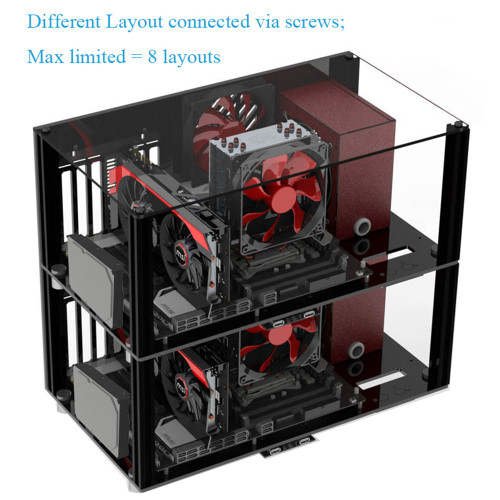 DIY Acrylic ATX Computer Case Compatible Micro ATX MATX Motherboard Open Full Transparent Desktop PC Gaming Cases Layout Kits|Computer Cases & Towers