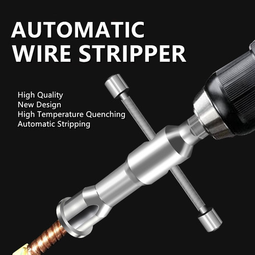 1PC Electrician Automatic Wire Stripper Twisted Wire Tool Quick Stripper Line Cable Peeling Twisting Connector TXTB1|Pliers|