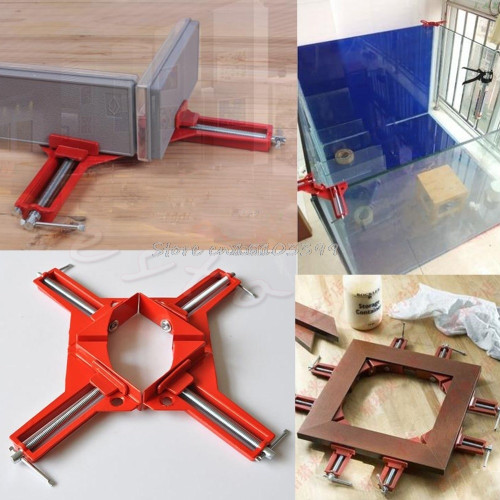 New 90 Degree Right Angle Picture Frame Corner Clamp Holder Woodworking Hand Kit M12 dropship frame corner clamp corner clampclamping clamp
