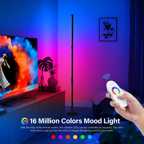 Modern Minimalist RGB Corner Floor Lamp Living Room Standing Lights Led Remote Control Bedroom Floor Light Cool Lamp Home Decor|Floor Lamps|