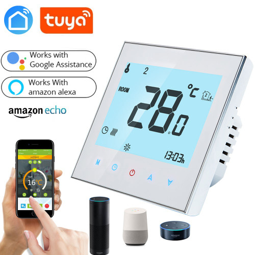 WiFi Thermostat Temperature Controller for Gas Boiler/Water/Electric floor Heating Water/support Google Home Alexa voice control|Smart Temperature Control System|