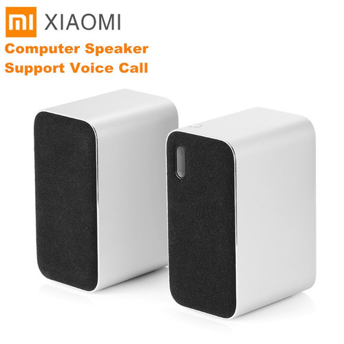 Original Xiaomi Bluetooth Computer Speaker Portable Double Bass Stereo Wireless Speaker Bluetooth4.2 Support Voice Call|Computer Speakers|