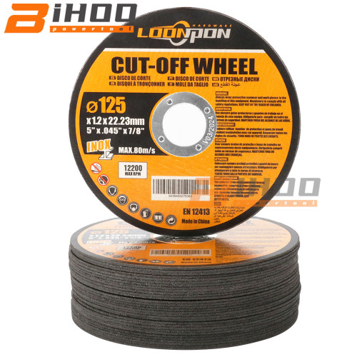 Resin Cutting Disc 125mm Cut Off Wheels Flap Sanding Grinding Discs Angle Grinder Wheel for Metal 4inch 5 50Pcs|Grinding Wheels|