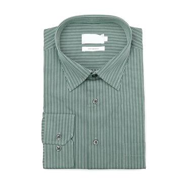 Green Striped Single Cuff Shirt
