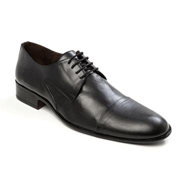 Black Plain Derby Shoe