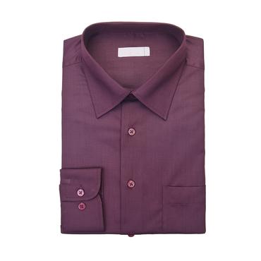 Burgundy Single Cuff Shirt