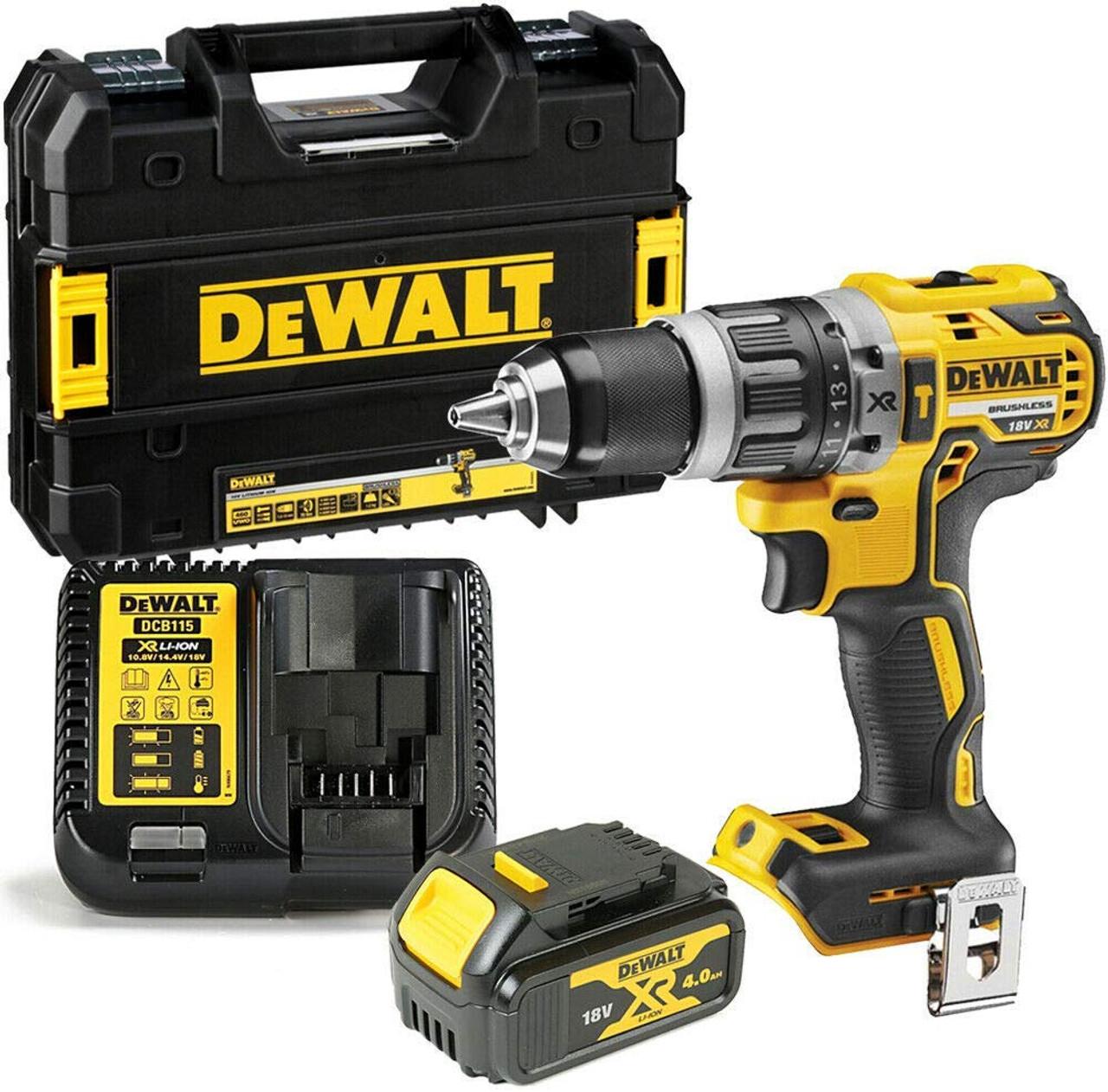 DeWalt DCD796M1 XR Brushless Hammer Drill 18v 1 x 4.0Ah Li-Ion