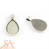 Drop Flat Pendant 25x18mm – Antique Silver 10 pieces