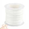 Faux Suede Cord 3x1.5mm 5m/Roll White